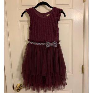 Matilda Jane girls ruffle sweater dress - size 10